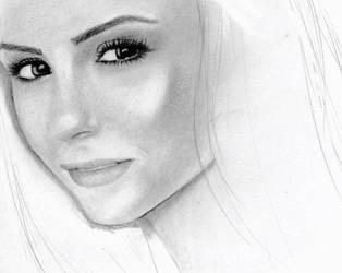 Nina Dobrev WIP by XlionheartX