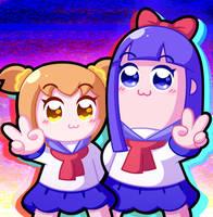 Popuko and Pipimi by MegaBuster182