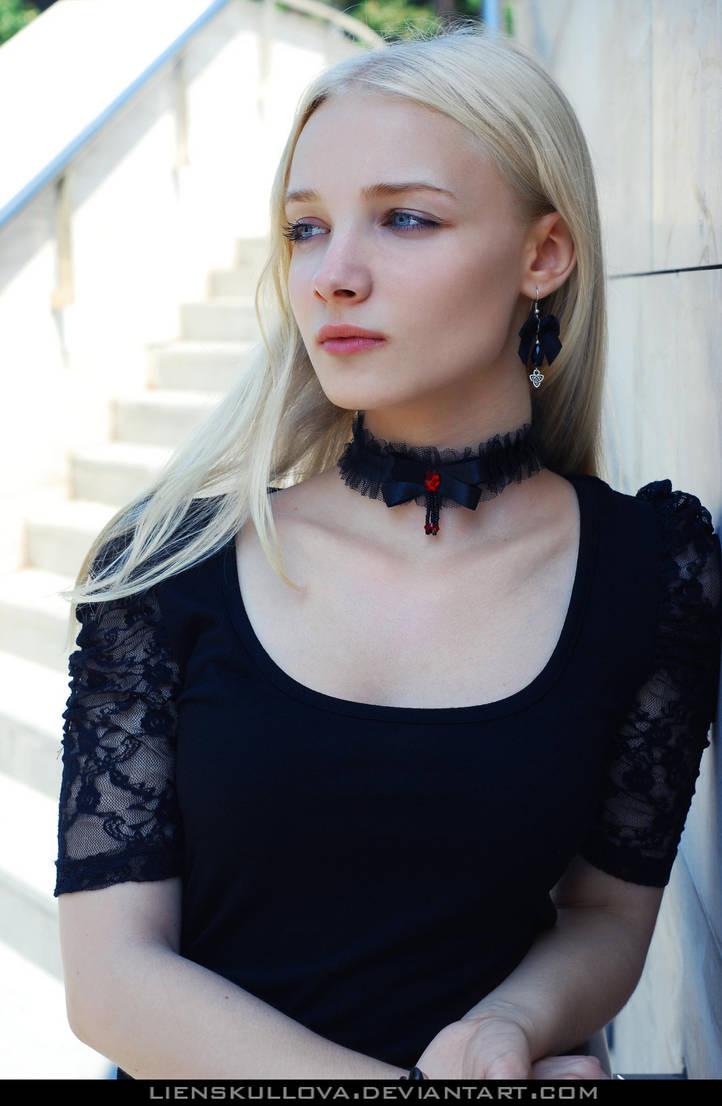 STOCK - Blonde in Black 02 by LienSkullova