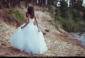 STOCK - White Dress 02 (Back) by LienSkullova