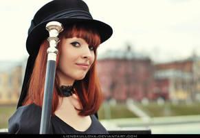 STOCK - Gothic Retro Portrait by LienSkullova