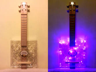 MY NEW HAND MADE  RECYCLE UKULELE. by loooos