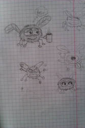 Fly Sketches by CreepyForever