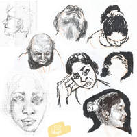 SK / / / Faces Study by Luluugah
