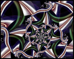 UF Chain Pong 828 - Blue Web by Szellorozsa