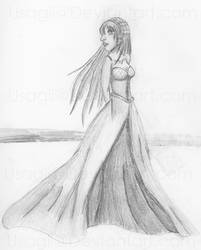 Random Girl in gown WIP by Usagii
