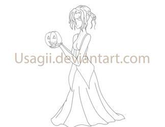 WHR Halloween Lineart by Usagii