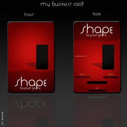 Shape Business Card by visualshape