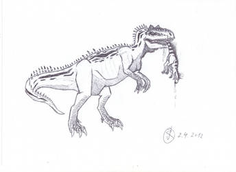 Allosaurus on the prowl by Isla-Nublar-Crew