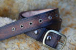 Hatched Belt brown by liontroll