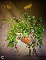 Strawberry 'n' bee fairy. by Ekwal