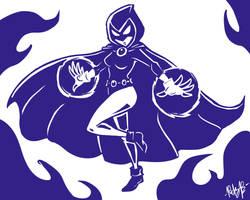 Waifu Raven by MetaKnuckles
