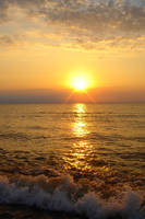 Stock 015: sea at sunset 2 by AlzirrSwanheartStock