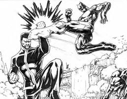 King T'Challa versus the Black Panther by Lun-K