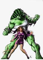 She Hulk (colored) by Lun-K