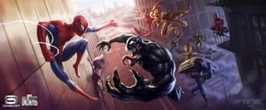 Spider-Man vs Venom by Med0ed