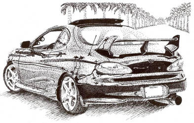 Hyundai Tiberon Stipple by annaink