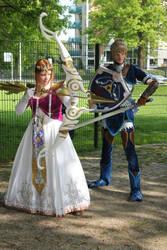 Link and Zelda by envoysoldier