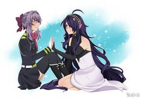 ::Shinoa Hiragi+Asuramaru by Reishichi