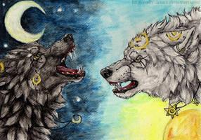 War of ..d a y.. and ..n i g h t.. by Cally-Dream