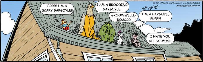 Dogpile on the Gargoyle! by BartholomewGarcia