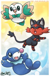 The Alola Starters: Rowlet, Litten and Popplio! by Hime--Nyan