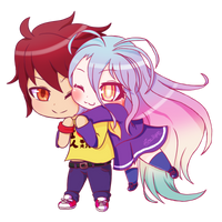 Chibi Sora and Shiro [+ Speedpaint] by Hime--Nyan