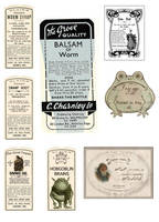 vintage style potion labels by Pureblackmagik