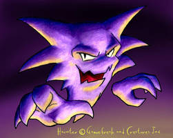 Haunter colored pencil and CG by drakered
