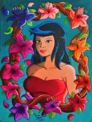 Lei-Wynn Flower Bust by RoamingDragon