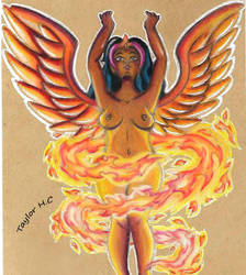 Lacrissa, The Angel of the Serene Flames by RoamingDragon