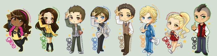 Chibi Glee Cast by SiliceB