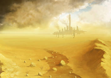Sci-fi Desert Structure by digital-fluids