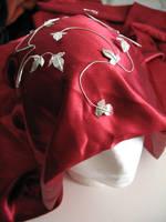 Ivy Leaf Bridal Headwrap by camias