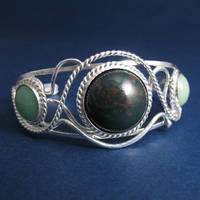 Earthly Realm Bracelet Cuff by camias