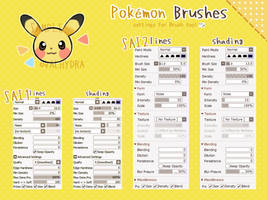 Pokemon Brush Settings For Easy Paint Tool SAI by ValHydra