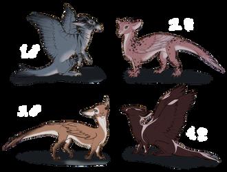 Dragon Adoptables by RainFreckles
