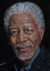 Morgan Freeman by arianna78