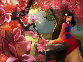 Mulan being Asian by Silvercresent11