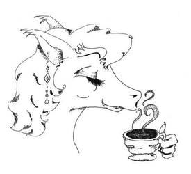 J'wyl Dragon for Tea by lunasuenos