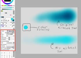 Paint Tool Sai Custom Airbrush by Deckboy