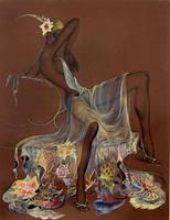 Siffon dress by artist5