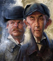 Sherlock Holmes and Doctor Watson by creaturedesign