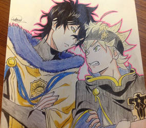 Yuno and Asta from Black Clover by AnimeStyleDrawer