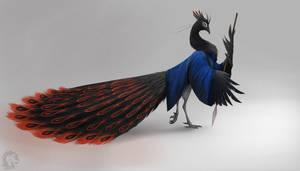 Black Peafowl by Shesterrni
