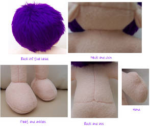 Plushie Bodyparts Closeup by AshFantastic