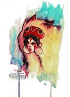 Fan-art Friday: Mononoke Hime by Kaizoku-hime
