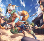 original character  Wakaka fighting by Kair030