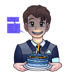 Connor wishes you a Happy B-day! by Uketello