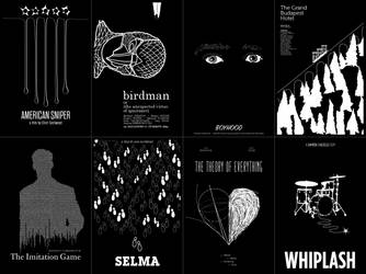 2015 Best Picture Oscar minimalist posters by ll-og